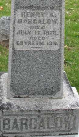 BARGALOW, HENRY - Montgomery County, Ohio   HENRY BARGALOW - Ohio Gravestone Photos