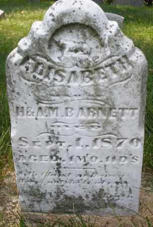BARNETT, ELISABETH - Montgomery County, Ohio | ELISABETH BARNETT - Ohio Gravestone Photos