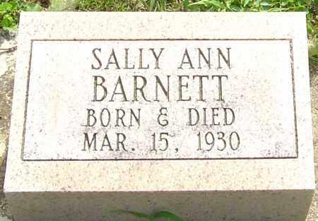 BARNETT, SALLY ANN - Montgomery County, Ohio | SALLY ANN BARNETT - Ohio Gravestone Photos