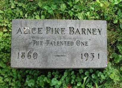 PIKE BARNEY, ALICE - Montgomery County, Ohio | ALICE PIKE BARNEY - Ohio Gravestone Photos