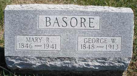 BASORE, MARY R. - Montgomery County, Ohio   MARY R. BASORE - Ohio Gravestone Photos
