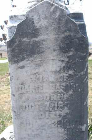 BASORE, WIFE OF DANIEL - Montgomery County, Ohio   WIFE OF DANIEL BASORE - Ohio Gravestone Photos