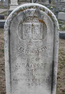BATDORF, ELIZABETH - Montgomery County, Ohio | ELIZABETH BATDORF - Ohio Gravestone Photos