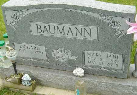 BAUMANN, MARY JANE - Montgomery County, Ohio | MARY JANE BAUMANN - Ohio Gravestone Photos