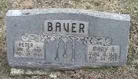 BAVER, PETER L. - Montgomery County, Ohio | PETER L. BAVER - Ohio Gravestone Photos