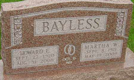 BAYLESS, MARTHA - Montgomery County, Ohio | MARTHA BAYLESS - Ohio Gravestone Photos