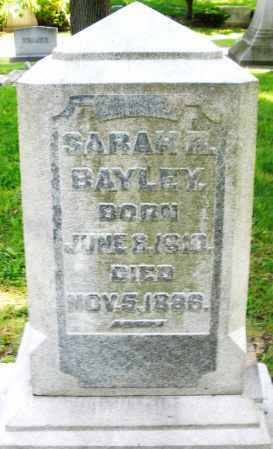 BAYLEY, SARAH - Montgomery County, Ohio | SARAH BAYLEY - Ohio Gravestone Photos
