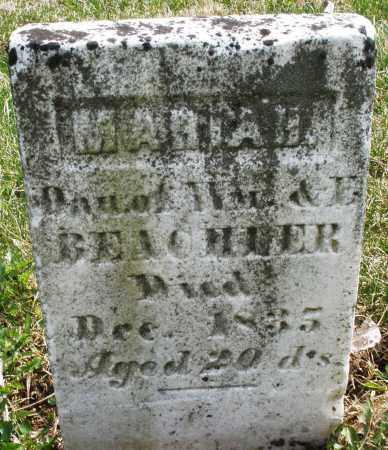 BEACHLER, MARIAH - Montgomery County, Ohio | MARIAH BEACHLER - Ohio Gravestone Photos