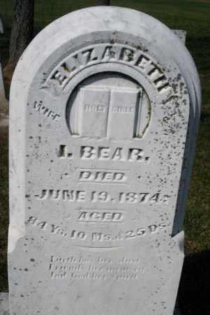 BEAR, ELIZABETH - Montgomery County, Ohio   ELIZABETH BEAR - Ohio Gravestone Photos