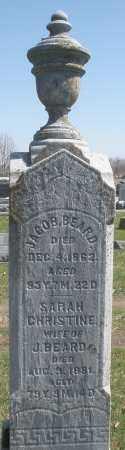 BEARD, SARAH CHRISTINE - Montgomery County, Ohio | SARAH CHRISTINE BEARD - Ohio Gravestone Photos