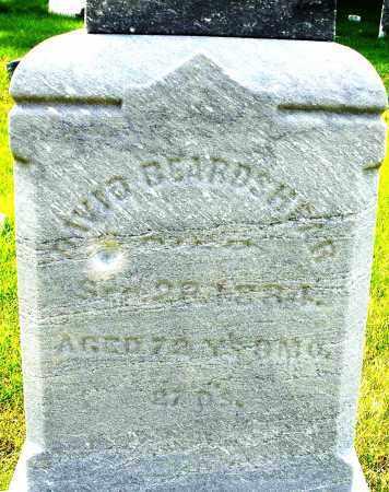 BEARDSHEAR, DAVID - Montgomery County, Ohio | DAVID BEARDSHEAR - Ohio Gravestone Photos