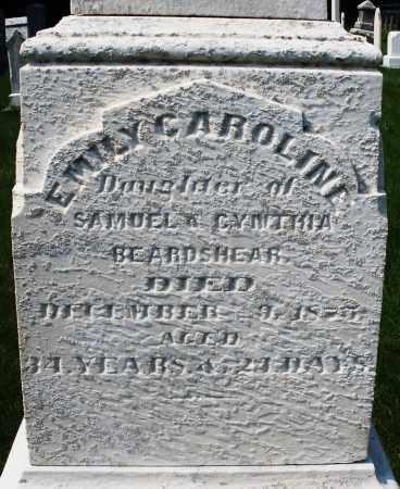 BEARDSHEAR, EMILY CAROLINE - Montgomery County, Ohio | EMILY CAROLINE BEARDSHEAR - Ohio Gravestone Photos