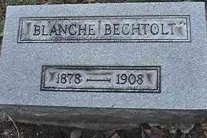 BECHTOLT, BLANCHE - Montgomery County, Ohio   BLANCHE BECHTOLT - Ohio Gravestone Photos