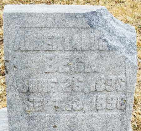 BECK, ALBERTA ?? - Montgomery County, Ohio | ALBERTA ?? BECK - Ohio Gravestone Photos