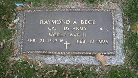 BECK, RAYMOND A. - Montgomery County, Ohio | RAYMOND A. BECK - Ohio Gravestone Photos