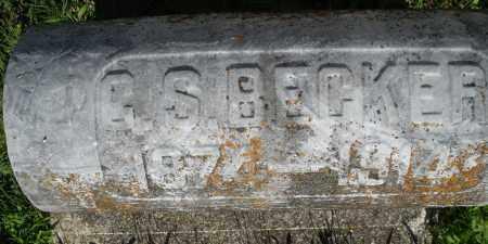 BECKER, C. S. - Montgomery County, Ohio | C. S. BECKER - Ohio Gravestone Photos