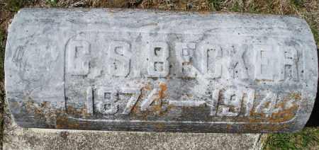 BECKER, C.S. - Montgomery County, Ohio | C.S. BECKER - Ohio Gravestone Photos