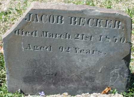 BECKER, JACOB - Montgomery County, Ohio | JACOB BECKER - Ohio Gravestone Photos