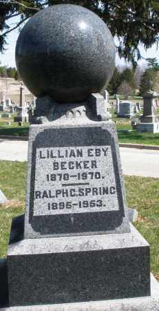 EBY BECKER, LILLIAN - Montgomery County, Ohio | LILLIAN EBY BECKER - Ohio Gravestone Photos