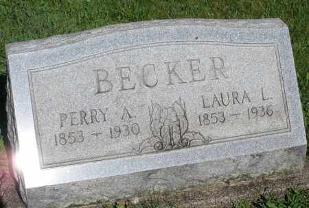 BECKER, PERRY A. - Montgomery County, Ohio | PERRY A. BECKER - Ohio Gravestone Photos