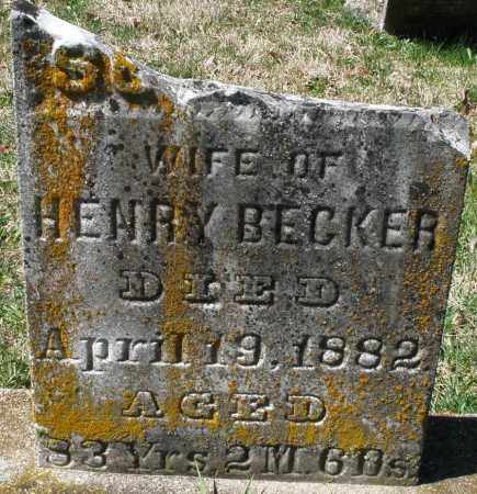 BECKER, SUSANNA - Montgomery County, Ohio   SUSANNA BECKER - Ohio Gravestone Photos