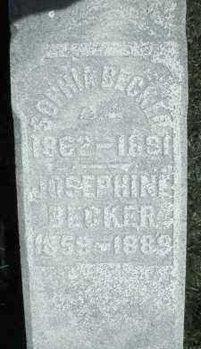 BECKER, SOPHIA - Montgomery County, Ohio | SOPHIA BECKER - Ohio Gravestone Photos