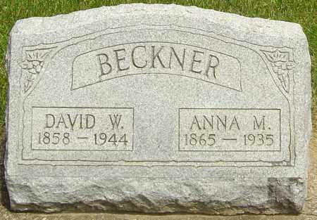 NONNEMAN BECKNER, ANNA M - Montgomery County, Ohio | ANNA M NONNEMAN BECKNER - Ohio Gravestone Photos