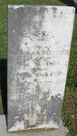 BEESEKER, ANNA - Montgomery County, Ohio | ANNA BEESEKER - Ohio Gravestone Photos