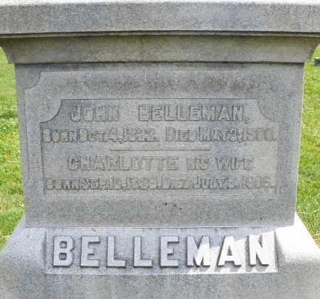 BELLEMAN, JOHN - Montgomery County, Ohio | JOHN BELLEMAN - Ohio Gravestone Photos