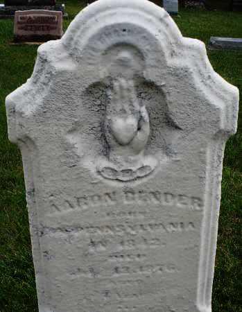 BENDER, AARON - Montgomery County, Ohio | AARON BENDER - Ohio Gravestone Photos
