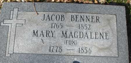 BENNER, JACOB - Montgomery County, Ohio | JACOB BENNER - Ohio Gravestone Photos
