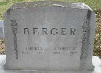 BERGER, GEORGE W. - Montgomery County, Ohio | GEORGE W. BERGER - Ohio Gravestone Photos