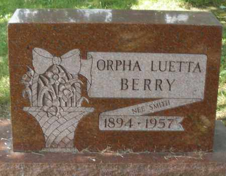 SMITH BERRY, ORPHA LUETTA - Montgomery County, Ohio | ORPHA LUETTA SMITH BERRY - Ohio Gravestone Photos