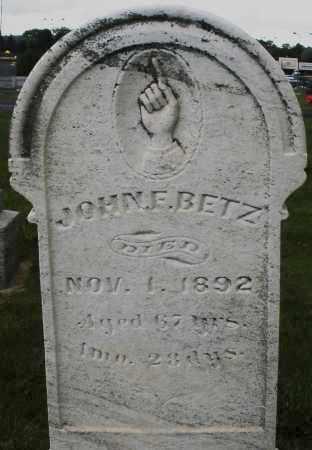 BETZ, JOHN F. - Montgomery County, Ohio   JOHN F. BETZ - Ohio Gravestone Photos