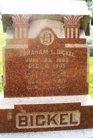 BICKEL, MARY E. - Montgomery County, Ohio | MARY E. BICKEL - Ohio Gravestone Photos