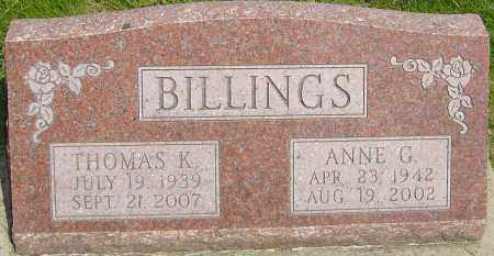 BILLINGS, THOMAS K - Montgomery County, Ohio | THOMAS K BILLINGS - Ohio Gravestone Photos