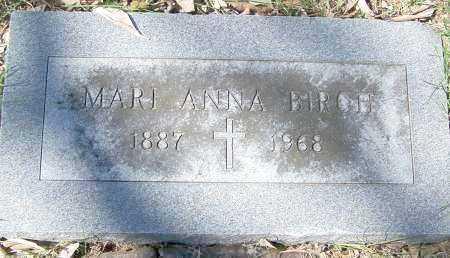 BIRCH, MARI ANNA - Montgomery County, Ohio | MARI ANNA BIRCH - Ohio Gravestone Photos