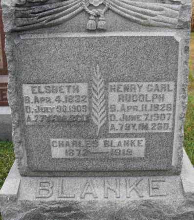 BLANKE, ELSBETH - Montgomery County, Ohio | ELSBETH BLANKE - Ohio Gravestone Photos