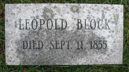 BLOCK, LEOPOLD - Montgomery County, Ohio | LEOPOLD BLOCK - Ohio Gravestone Photos