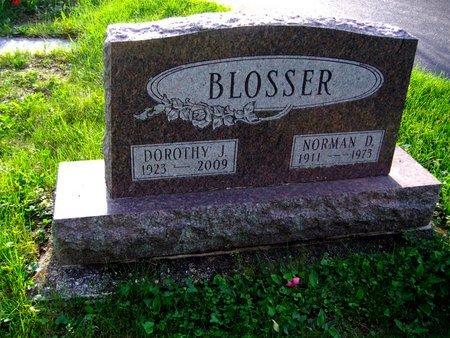 BLOSSER, NORMAN D - Montgomery County, Ohio | NORMAN D BLOSSER - Ohio Gravestone Photos