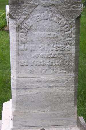 BOLANDER, DAVID - Montgomery County, Ohio | DAVID BOLANDER - Ohio Gravestone Photos