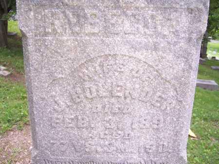 BOLANDER, REBECCA - Montgomery County, Ohio | REBECCA BOLANDER - Ohio Gravestone Photos