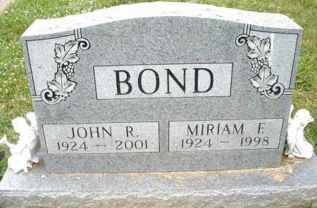 BOND, MIRIAM F. - Montgomery County, Ohio | MIRIAM F. BOND - Ohio Gravestone Photos