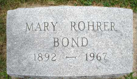 ROHRER BOND, MARY - Montgomery County, Ohio | MARY ROHRER BOND - Ohio Gravestone Photos