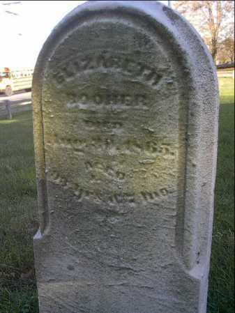 BOOHER, ELIZABETH - Montgomery County, Ohio | ELIZABETH BOOHER - Ohio Gravestone Photos