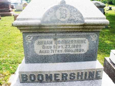 BOOMERSHINE, ABRAM - Montgomery County, Ohio   ABRAM BOOMERSHINE - Ohio Gravestone Photos