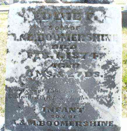 BOOMERSHINE, EDDIE - Montgomery County, Ohio | EDDIE BOOMERSHINE - Ohio Gravestone Photos