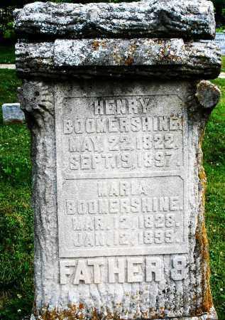 BOOMERSHINE, HENRY - Montgomery County, Ohio | HENRY BOOMERSHINE - Ohio Gravestone Photos