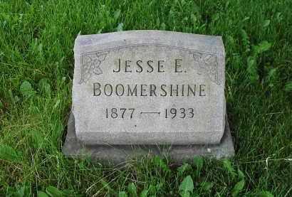 BOOMERSHINE, JESSE E. - Montgomery County, Ohio   JESSE E. BOOMERSHINE - Ohio Gravestone Photos