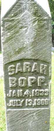 BOPP, SARAH - Montgomery County, Ohio   SARAH BOPP - Ohio Gravestone Photos